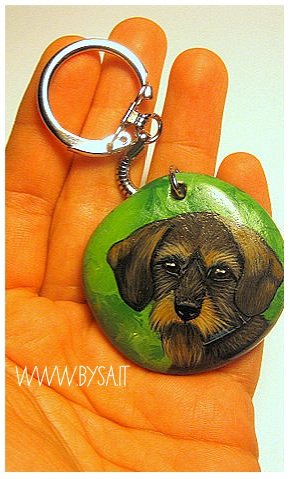 regali originali natale cani dipinti portachiavi