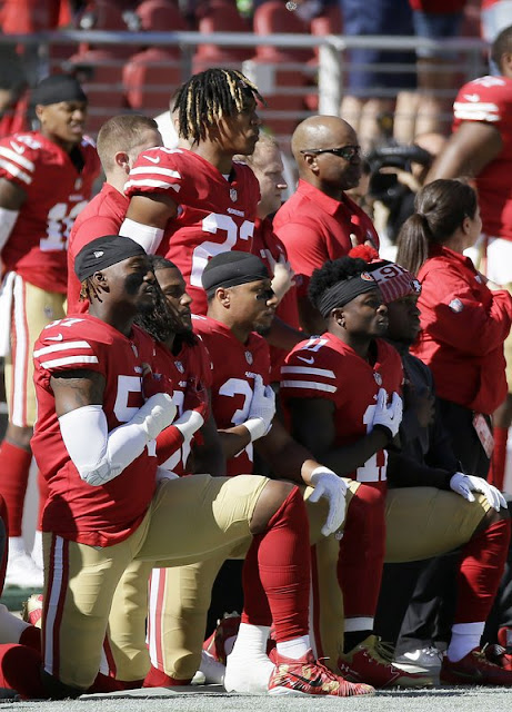 NFL players protested during anthems Sunday