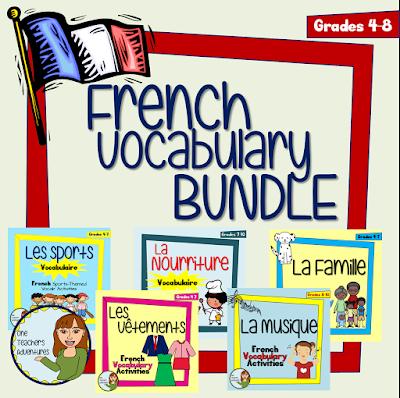 one teacher 39 s adventures no prep vocab bundle for middle school french. Black Bedroom Furniture Sets. Home Design Ideas