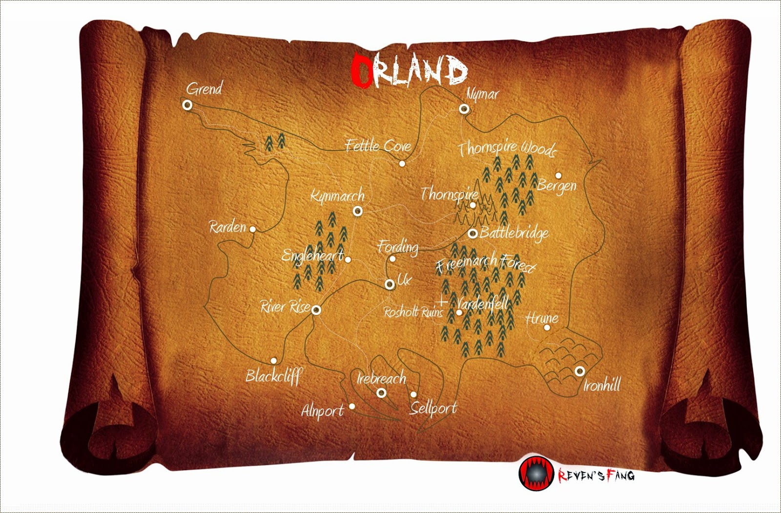 The fantasy country of Orland from Reven's Fang