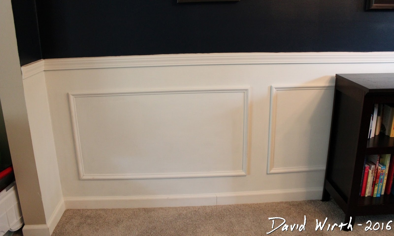 Wall Trim and Chair Rail - Easy Room Remodel