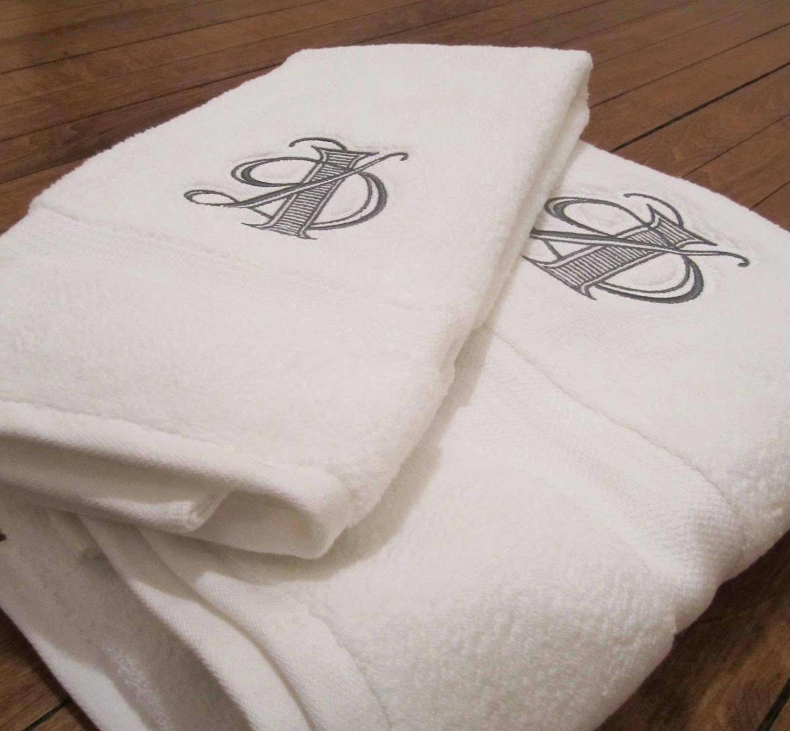 Tailored: New Design: Custom Monogram Embroidered Towels