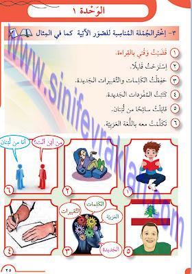 8. Sınıf Arapça Meb Yayınları Ders Kitabı Cevapları Sayfa 25