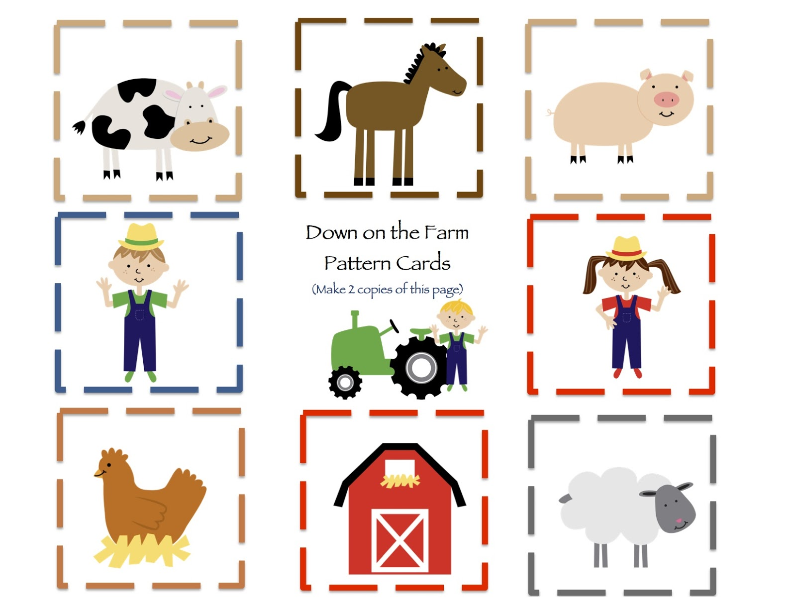 Down On The Farm Printable Preschool Printables