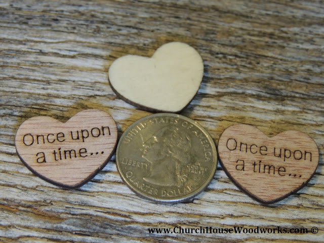 Once Upon A Time Wood Heart Confetti For Rustic Weddings, Barn Weddings, Country Weddings, Farm Weddings, Wood Weddings, Forest Weddings