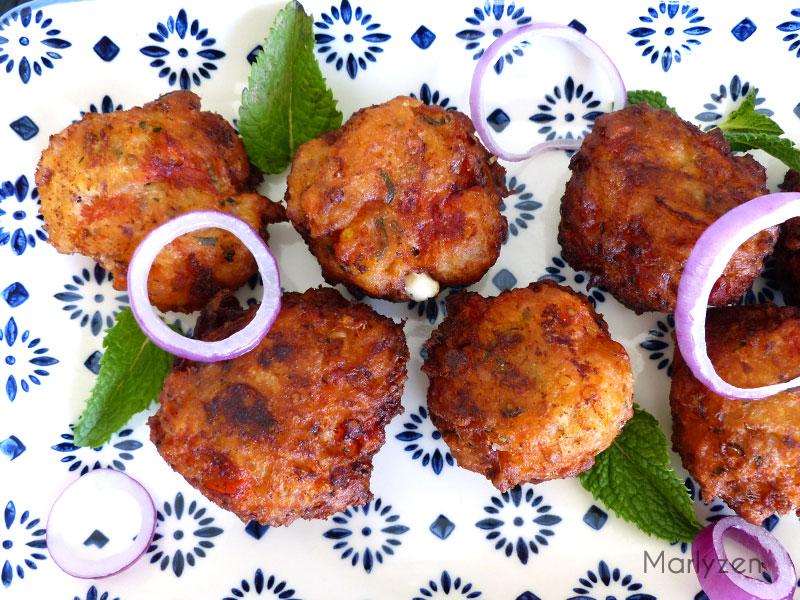 Croquettes de tomates à la grecque (Tomatokeftedes)