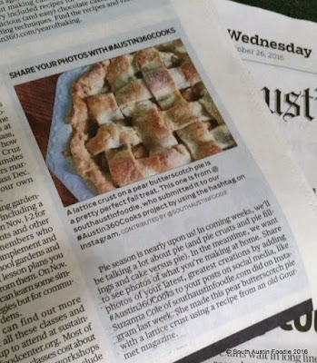 Pear Butterscotch Pie in Austin American-Statesman