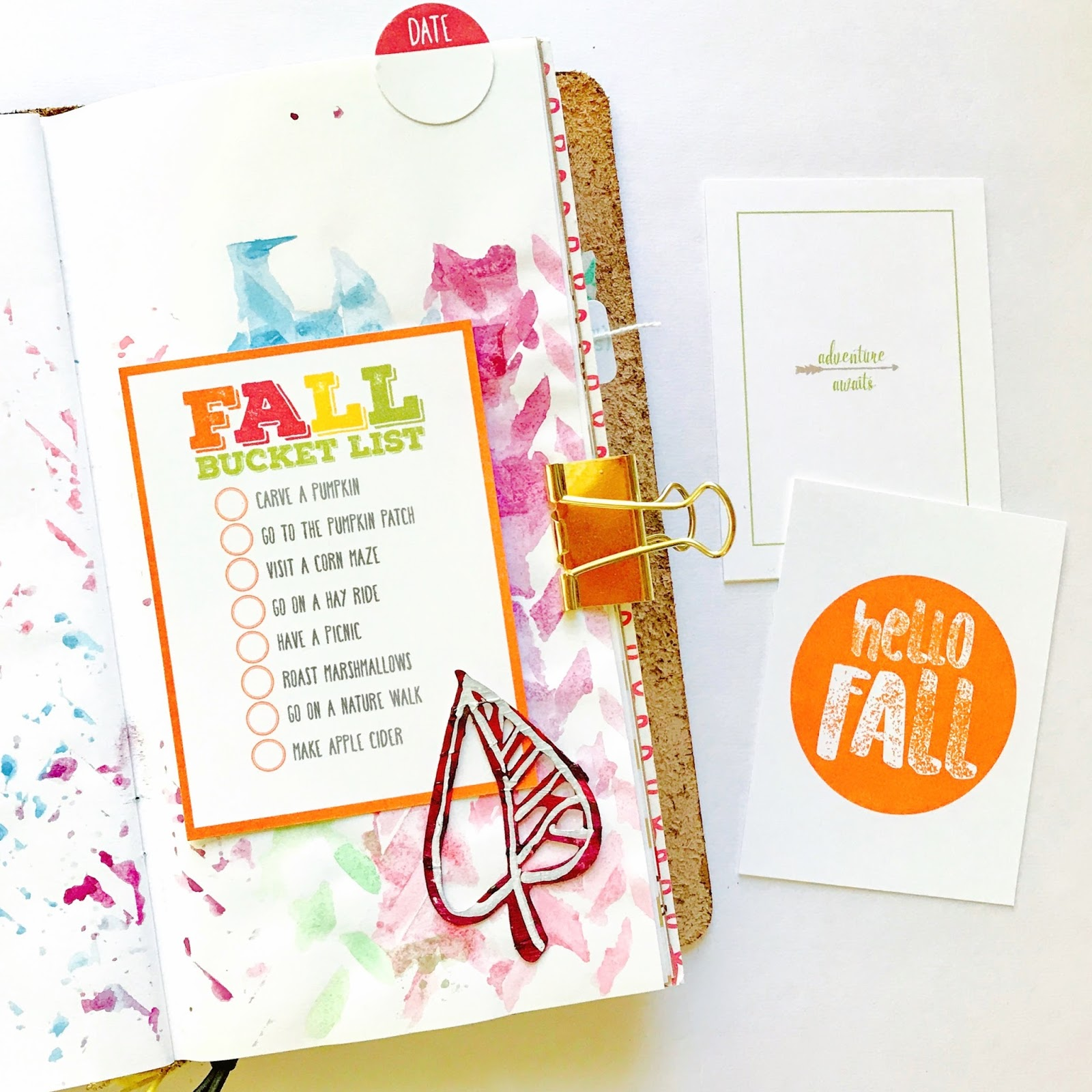 #fall #bucket #list #printable #download #scrapbooking #project #life #3x4 #4x6