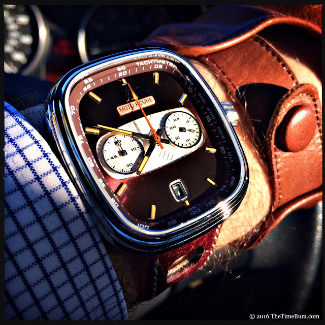 Moto Koure MK I MechaQuartz Burgundy Dial wrist shot