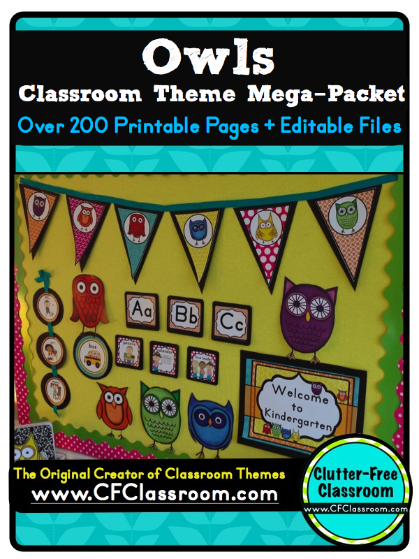 Owl Classroom Idea ~ Owls themed classroom ideas printable