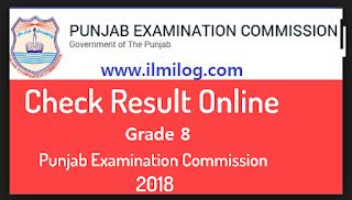 PEC 8th Class Result 2018
