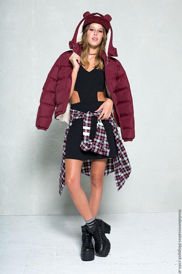 Camperas inflables 47 Street ropa de moda invierno 2016.