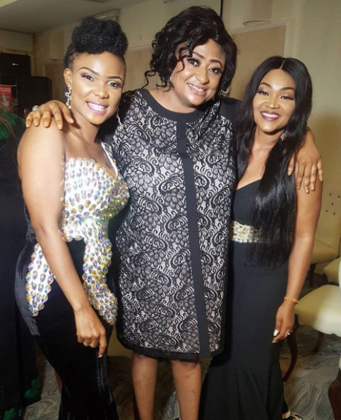 Mercy aigbe, Iyabo ojo and Folake at saidi Golden jubilee