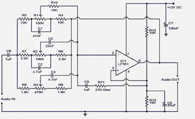 3 Band Tone Control Circuit