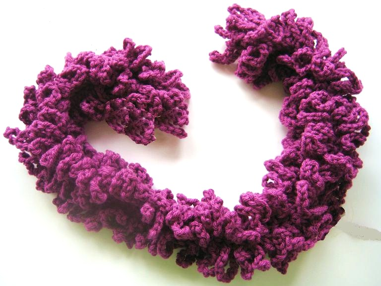Free Crochet Pattern for a Womans Boa Scarf Free Patterns Crocheted Scarves Children