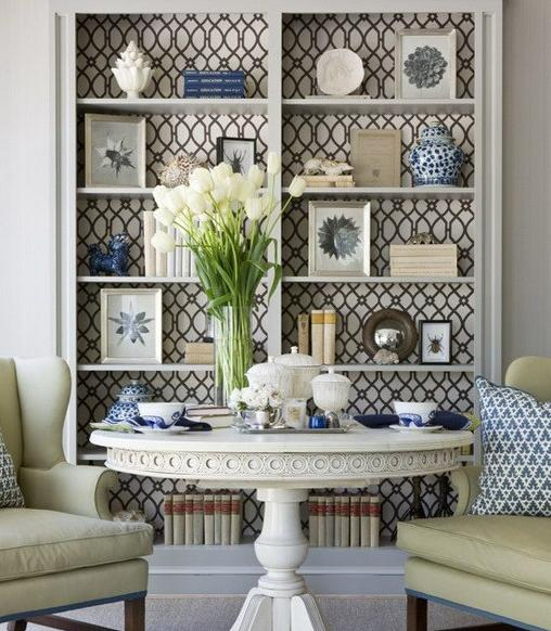 How To Update Furniture With Wallpapers