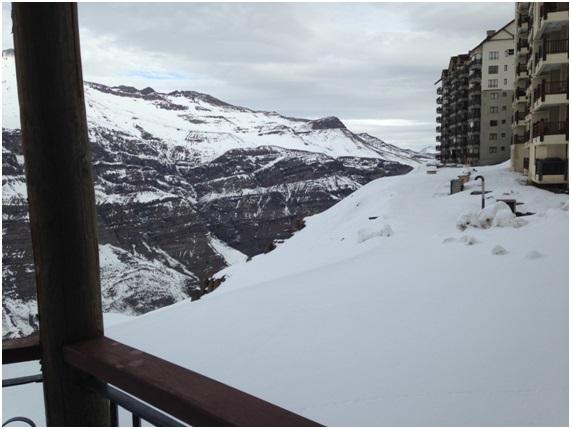 Vista do Hotel em Valle Nevado