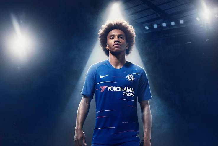 d0c3c04a2a Chelsea 18-19 Home Kit Released - Footy Headlines