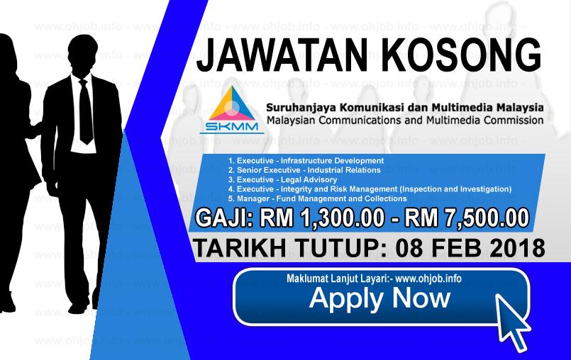 Jawatan Kerja Kosong  Suruhanjaya Komunikasi Dan Multimedia Malaysia - SKMM logo www.ohjob.info februari 2018