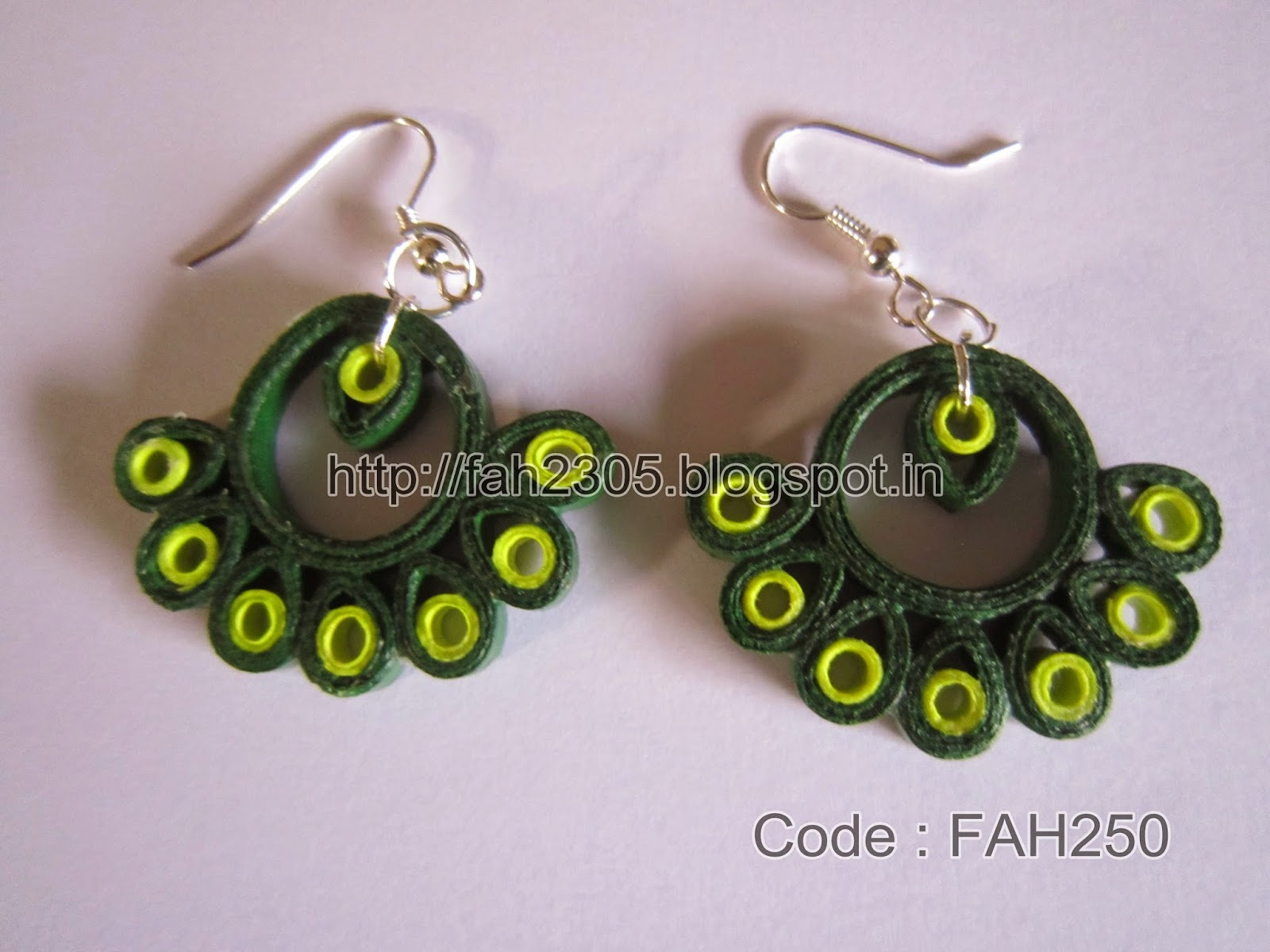 Fah Creations: Paper Quilling Earrings - New Designs.