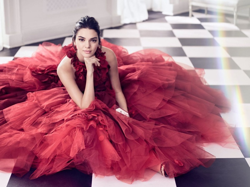 Kendall Jenner goes festive for Estee Lauder's 2017 Holiday Campaign