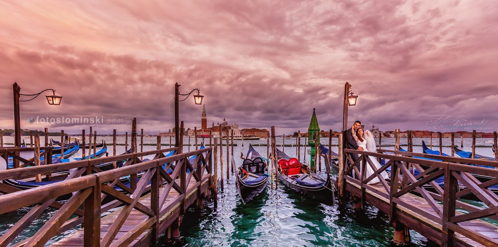 Piękne zdjęcie z Wenecji - Fotografia ślubna M.Słomiński - Fotograf Wrocław - Plener w Wenecji.