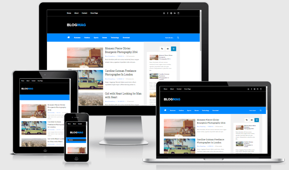 Blogmag - Responsive Clean News/Magazine Blogger Template