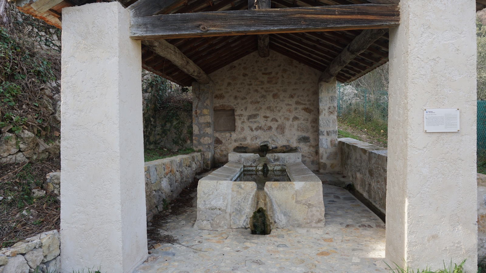 The Carros Village lavoir