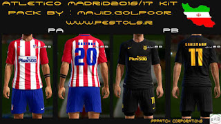 Kits Atletico Madrid 2016-2017 Pes 2013 By Golpoor