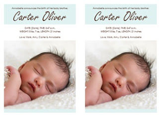 Image: Baby boy birth announcement | Share the joy with this boy birth announcement card template