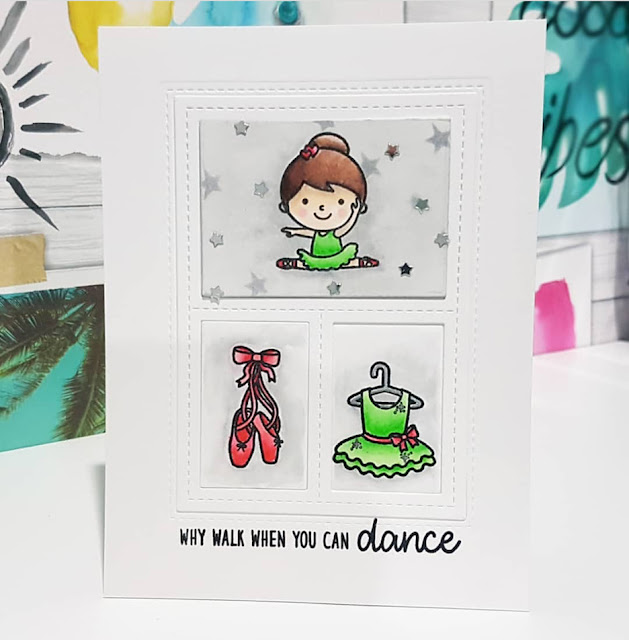 Sunny Studio Stamps: Tiny Dancer Customer Card by Pip Lewer