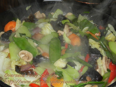 Vegetable Chopsuey - Cooking Procedure