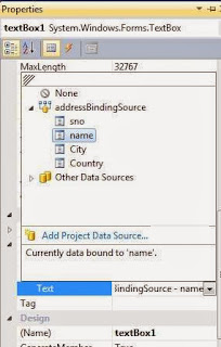 DataBinding in windows form