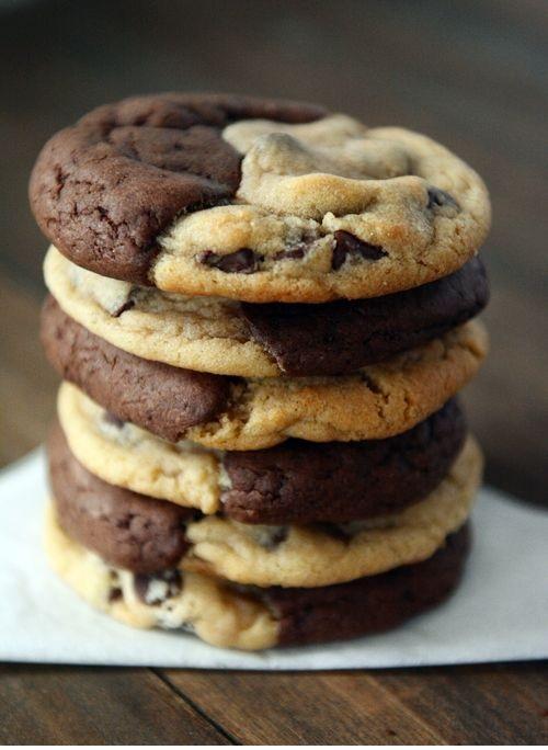Brookies (Brownie + Chocolate Chip Cookies)