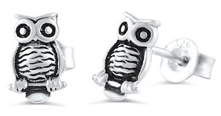 Sterling Silver Owl Earrings $8 (reg $19) also in hearts
