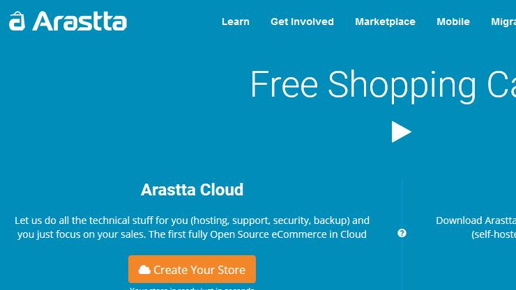 Arastta shopping cart software