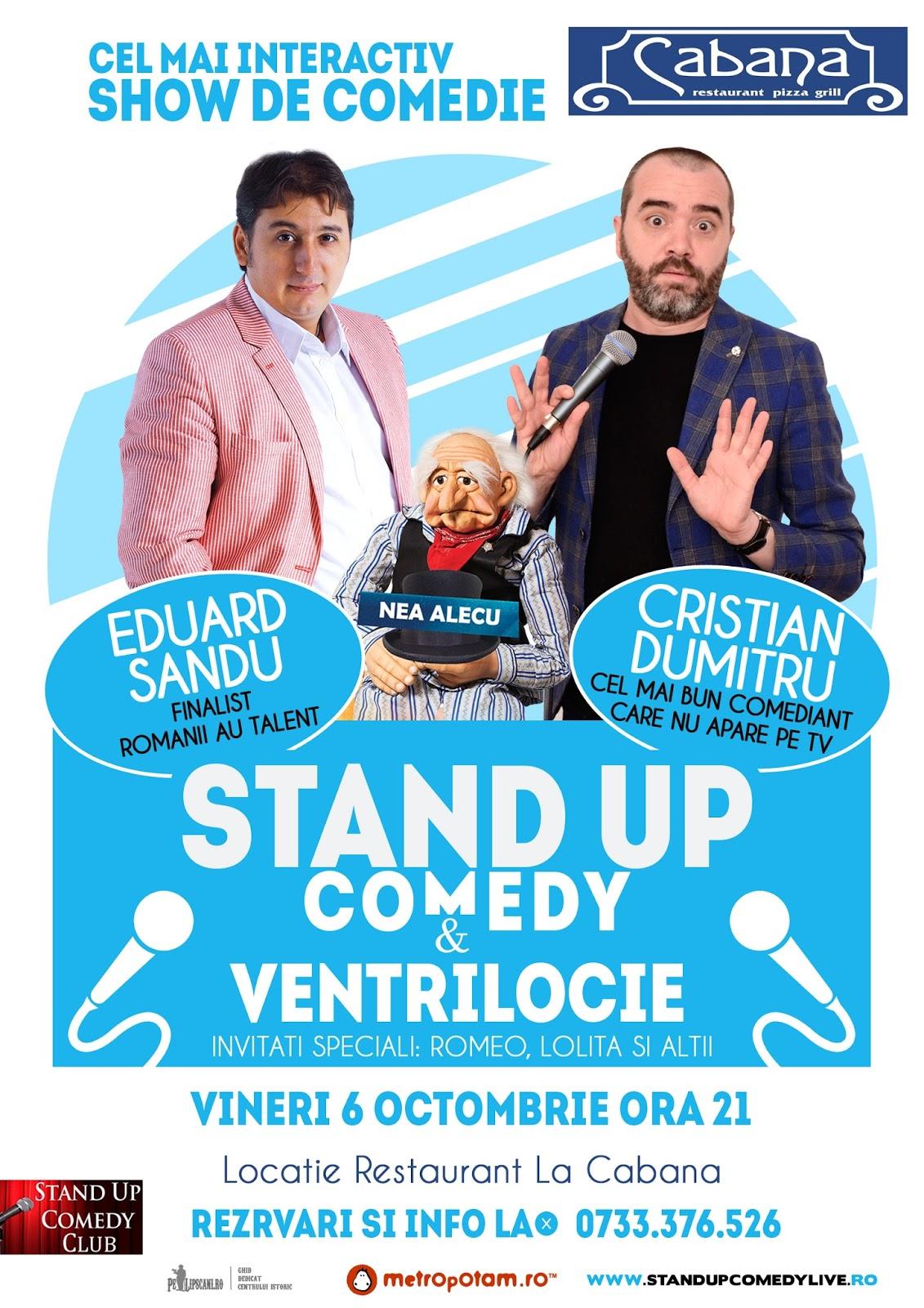 Stand-Up Comedy & Ventrilocie Vineri 6 Octombrie Bucuresti
