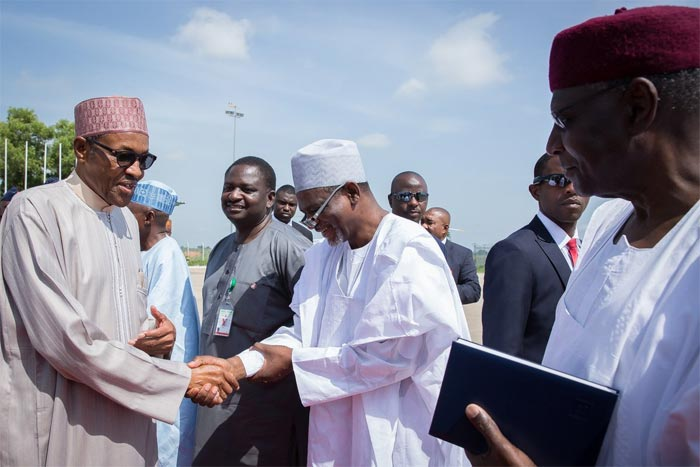 Photos: President Buhari departs Nigeria for London over health issues