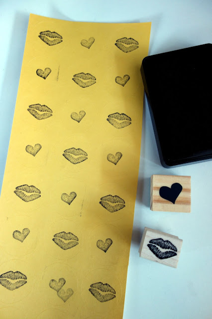 rubber stamps and ink pads, sealed with a kiss, kiss stamp, heart stamp