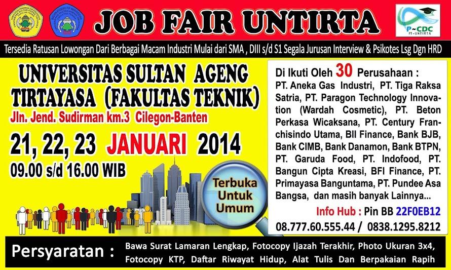 Informasi Job Fair FT UNTIRTA Januari 2014