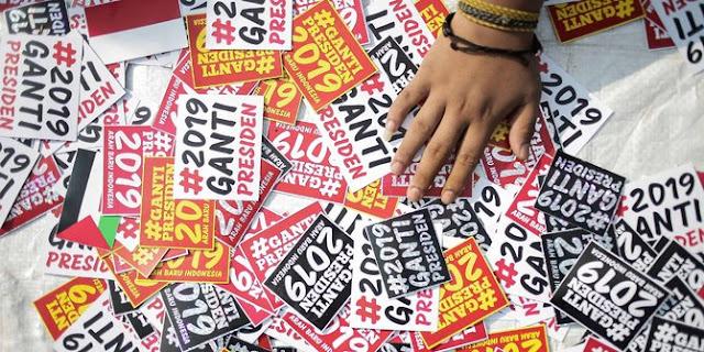 Survei: 68,8 Persen publik tidak setuju gerakan #2019GantiPresiden