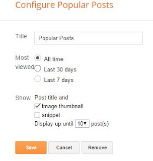 Setting Widget Popular Posts