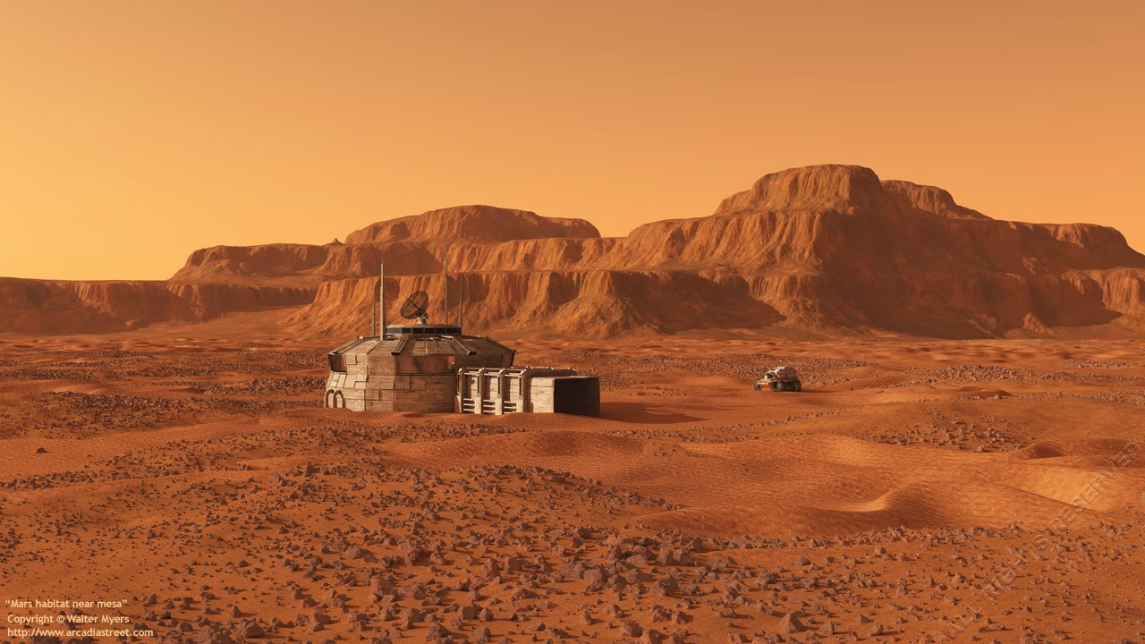 Mars base by Walter Myers