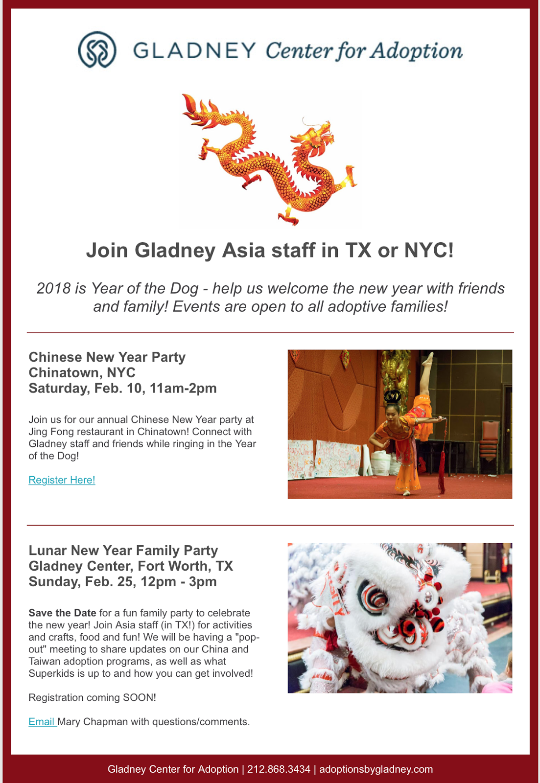 since this is a pdf copy invitation the links in it are not live for the nyc event register here for the tx event email marychapmangladneyorg