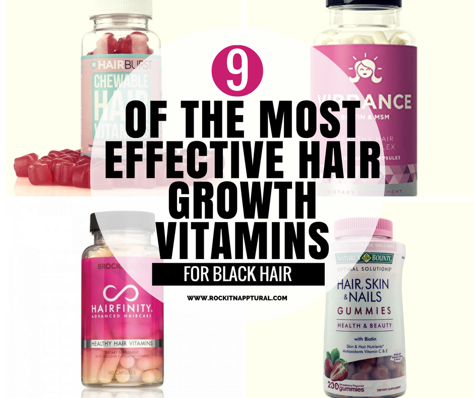 9 Hair Growth Vitamins That Actually Work for Black Hair | ROCKIN ...