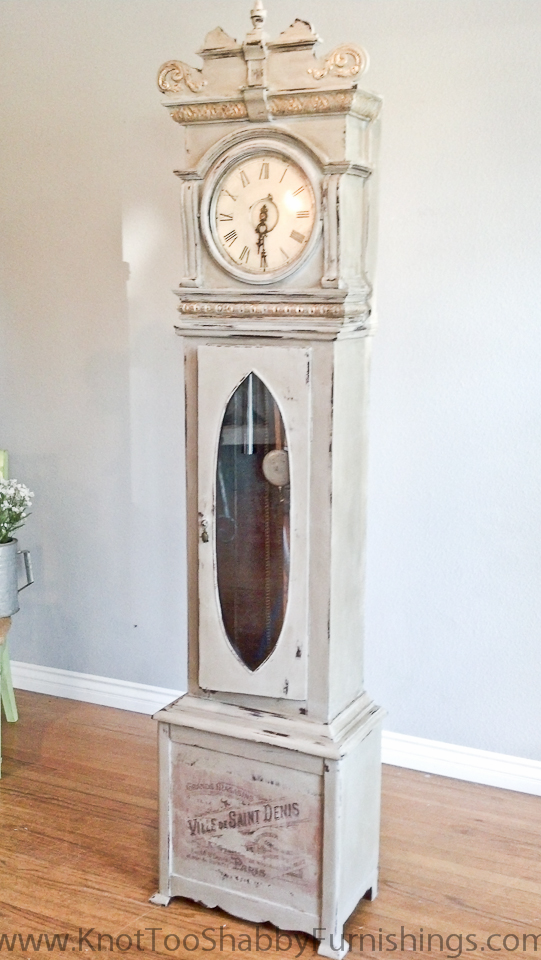 We Chose Annie Sloan Chalk Paint In Paris Grey As The Base Color With Some Gold Gilding To Accent Details Of Clock I Used This Piece An