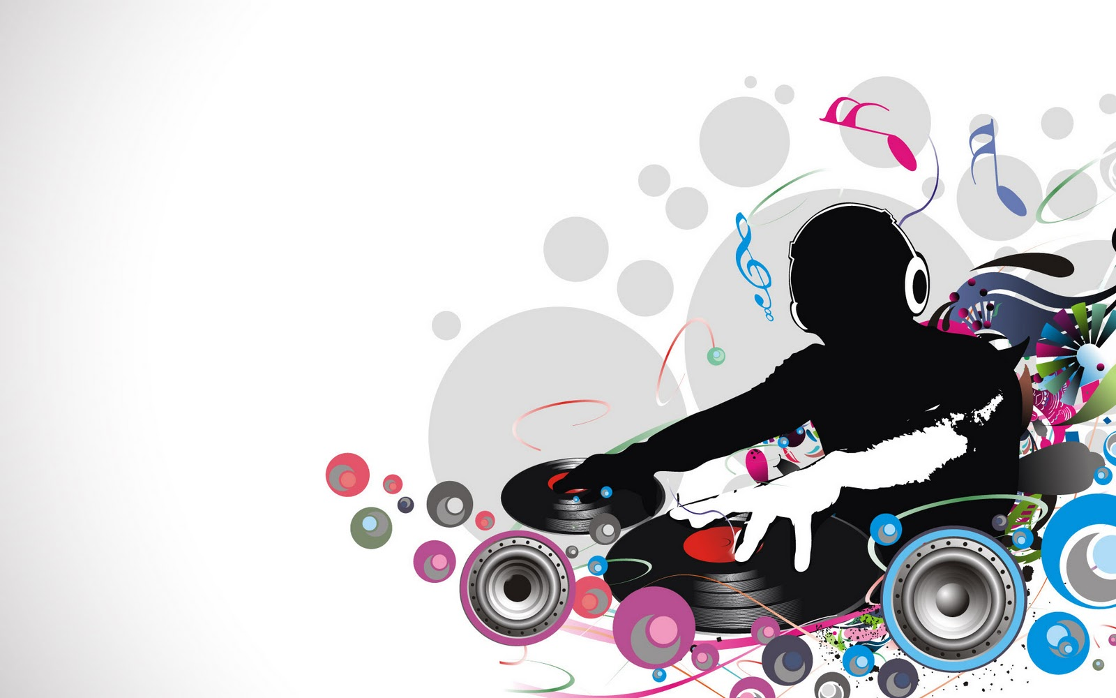 Abstract Colorful DJ Life Graphic Wallpaper