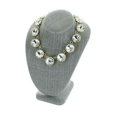 Shop Nile Corp Wholesale Gray Linen Necklace Display Bust