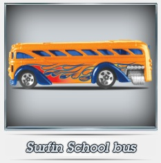 Personalized Hot Wheels School Bus