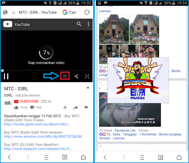Cara Nonton Video Youtube Sambil Browsingan di UC Browser Tutorial Nonton Video Youtube Sambil Browsingan di UC Browser